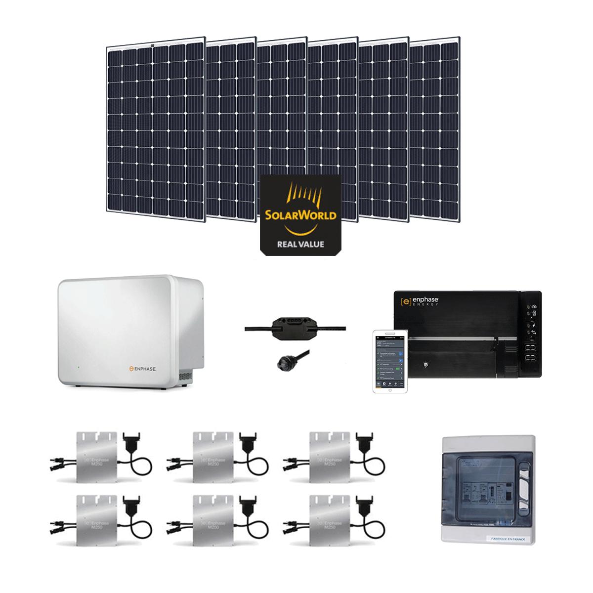 kit solaire 1800w autoconsommation avec batterie. Black Bedroom Furniture Sets. Home Design Ideas