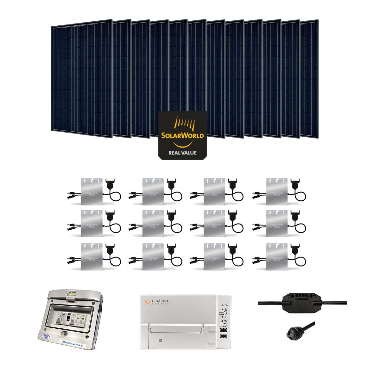Kit solaire 3420w autoconsommation enphase plug play for Panneau solaire plug and play