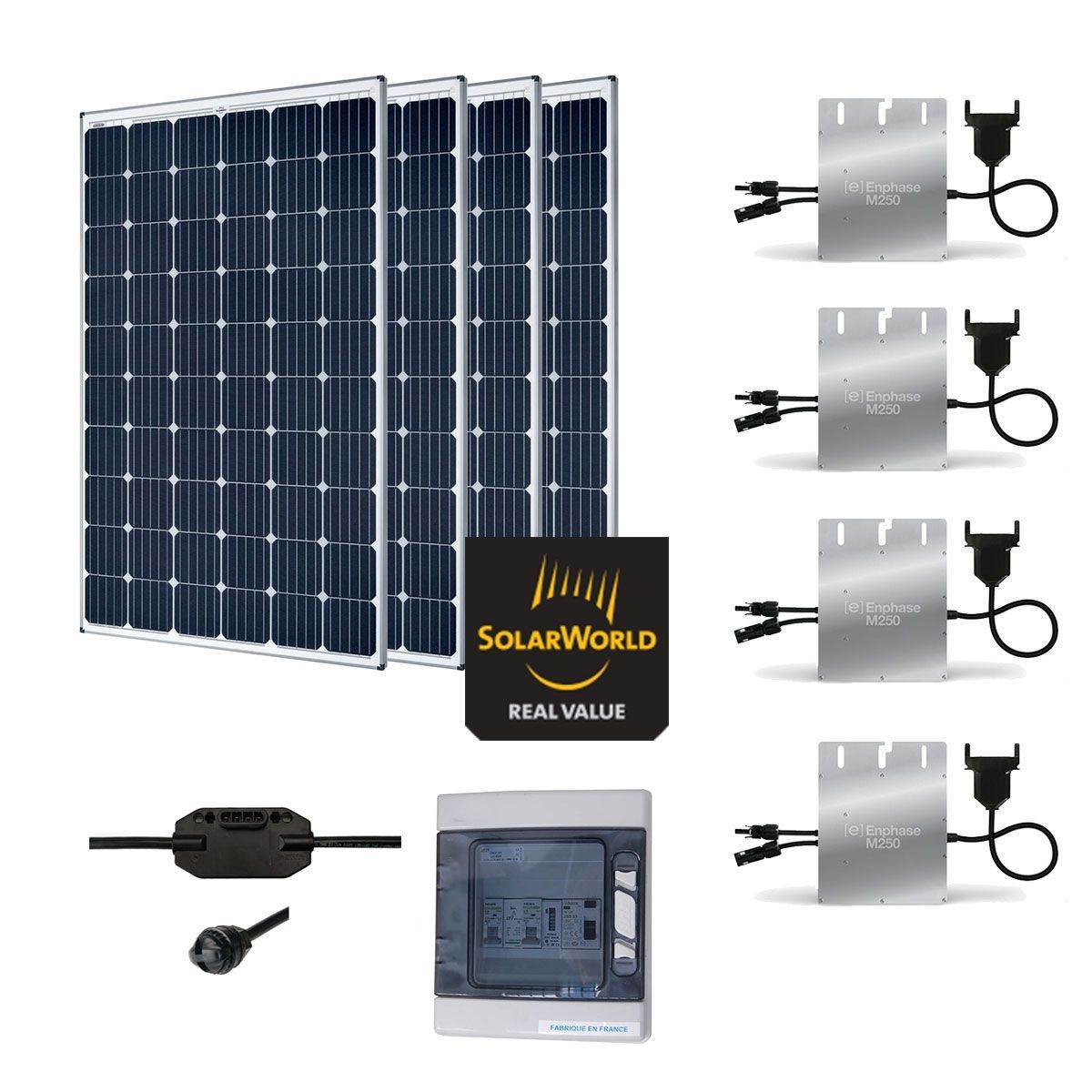 kit solaire 1200w autoconsommation enphase plug play. Black Bedroom Furniture Sets. Home Design Ideas