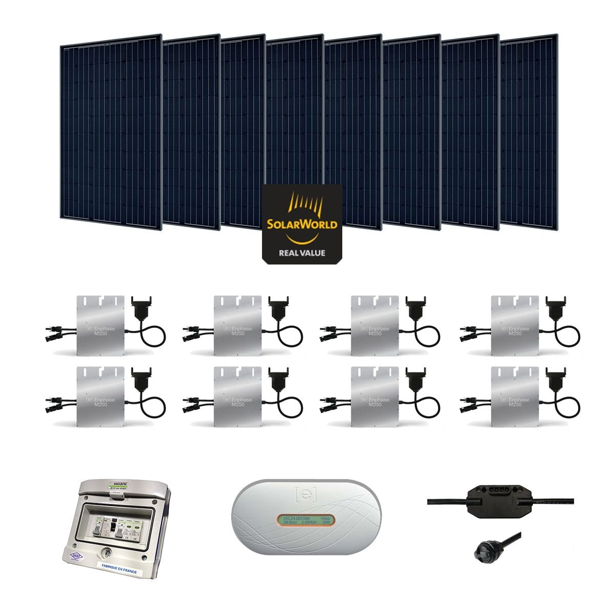 kit solaire 2240w autoconsommation enphase plug play. Black Bedroom Furniture Sets. Home Design Ideas