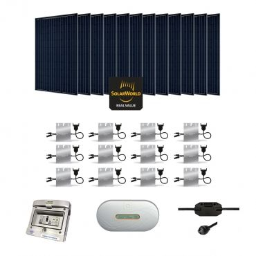 Kit solaire 3360w autoconsommation enphase plug play for Panneau solaire plug and play