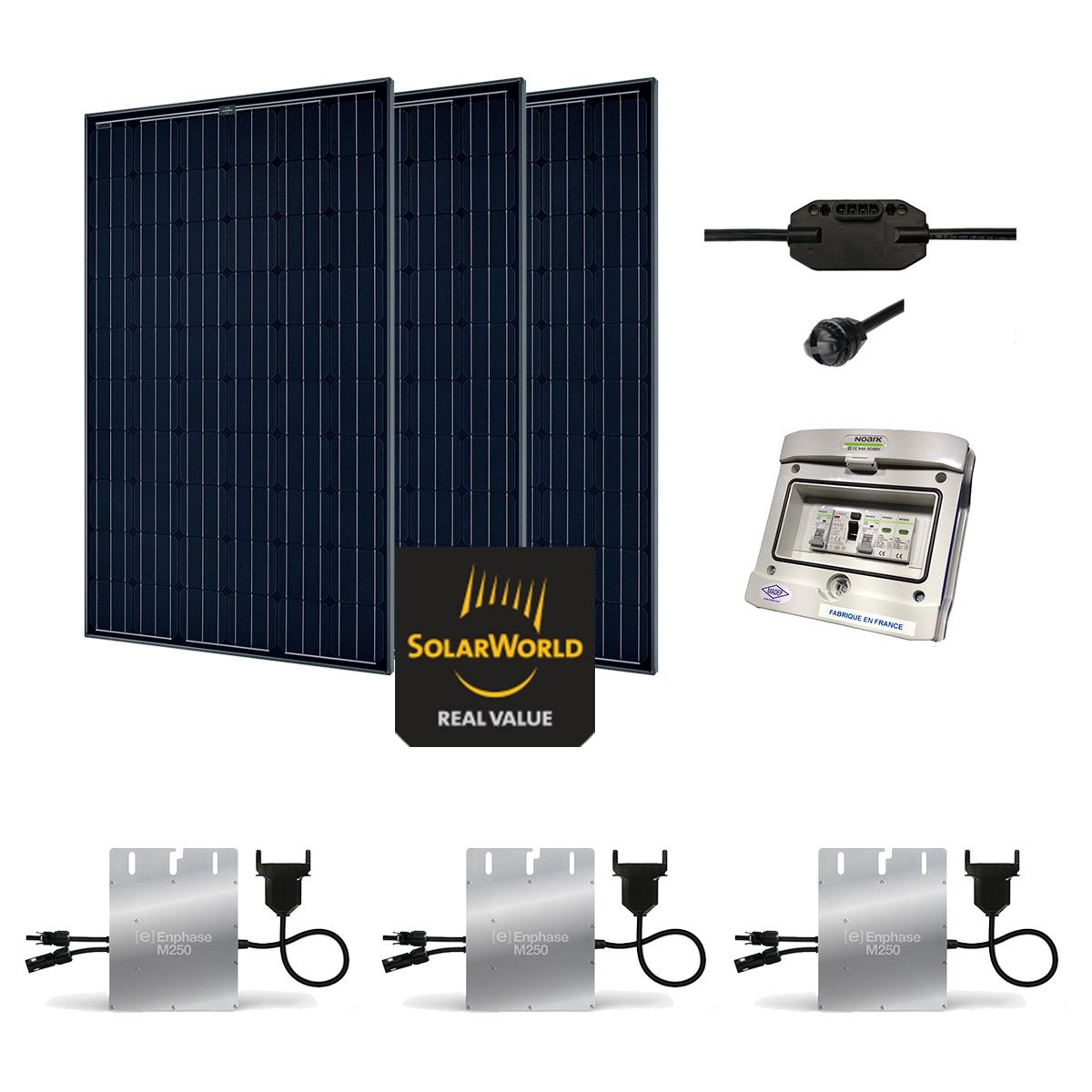 Kit solaire 855w autoconsommation plug play for Panneau solaire plug and play