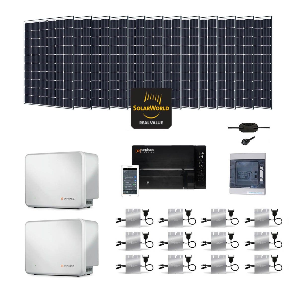 kit solaire 3600w autoconsommation avec batterie. Black Bedroom Furniture Sets. Home Design Ideas