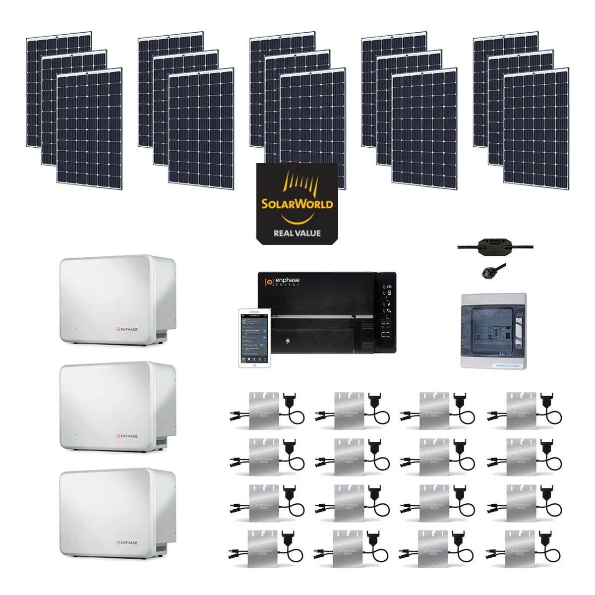 kit solaire 4800w autoconsommation avec batterie. Black Bedroom Furniture Sets. Home Design Ideas