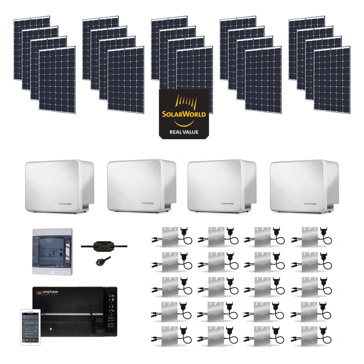 kit solaire 6000w autoconsommation avec batterie. Black Bedroom Furniture Sets. Home Design Ideas