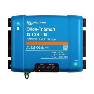 Chargeur Orion-TR Smart isolé DC-DC 12V/24V 15A (360W) / Véhicule EURO 5 et 6 (chargeur booster)