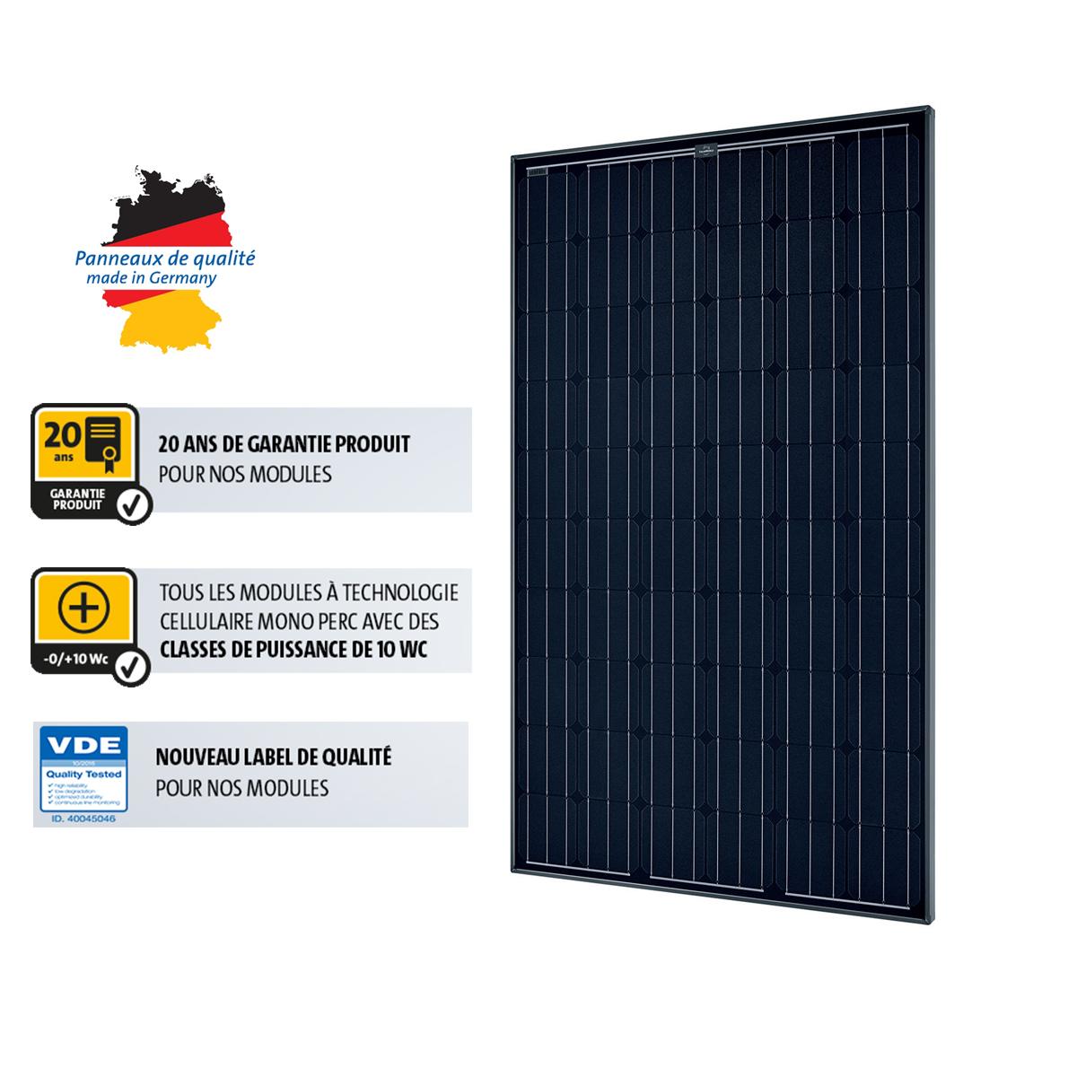 panneau solaire sunmodule plus 280w mono black solarworld. Black Bedroom Furniture Sets. Home Design Ideas