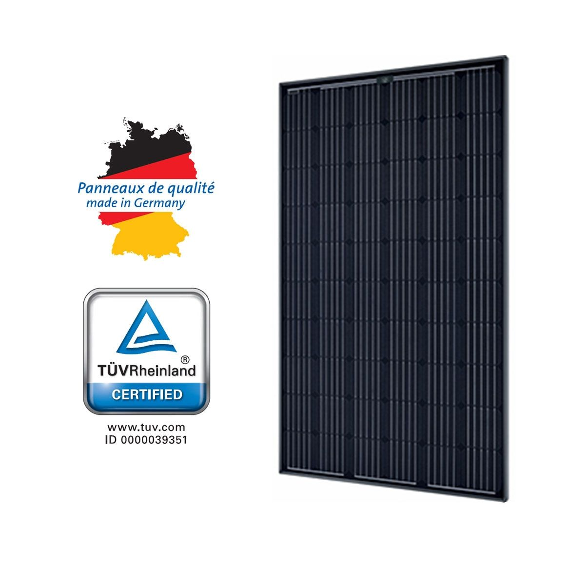 panneau solaire sunmodule plus 280w mono black solarworld. Black Bedroom Furniture Sets. Home Design Ideas