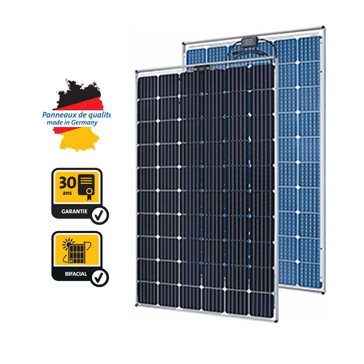 panneau solaire photovoltaique 290w bisun protect solarworld. Black Bedroom Furniture Sets. Home Design Ideas